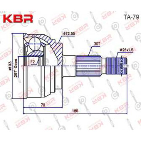 TA79   -   OUTBOARD C V JOINT
