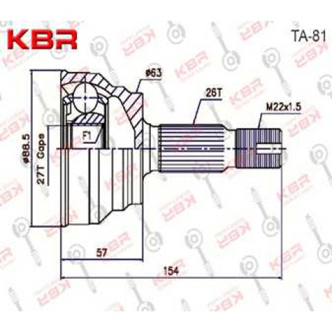 TA81   -   OUTBOARD C V JOINT