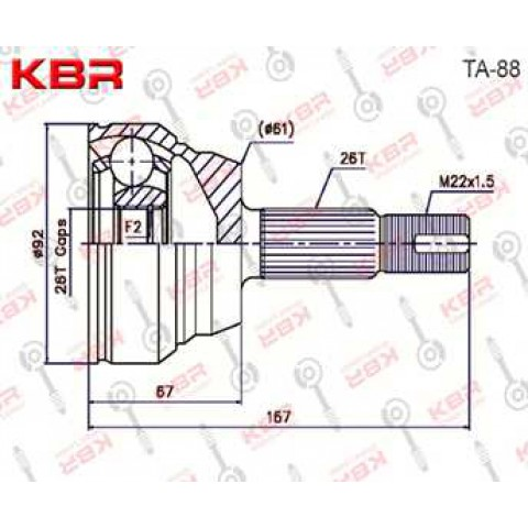 TA88   -   OUTBOARD C V JOINT