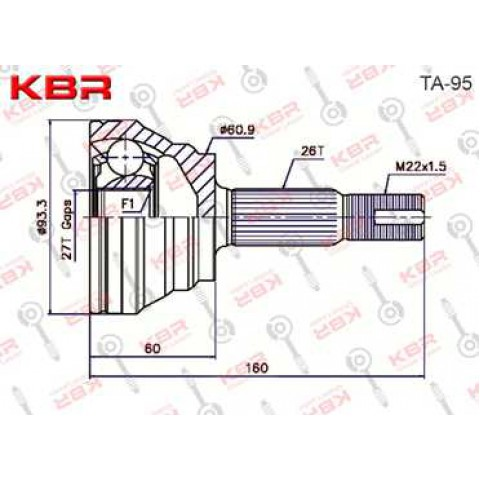 TA95   -   OUTBOARD C V JOINT