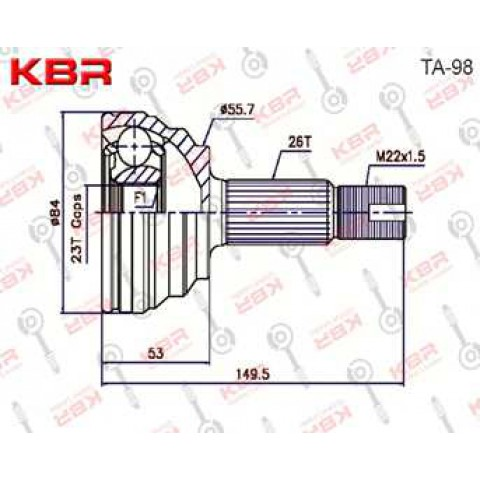 TA98   -   OUTBOARD C V JOINT