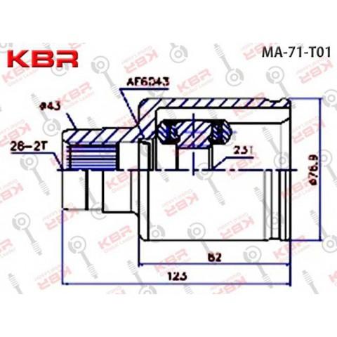 MA71T01  -   INNER CV JOINT