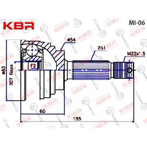 MI06   -   OUTBOARD CV JOINT