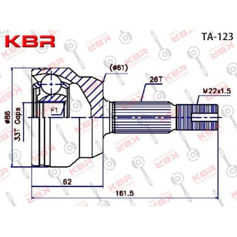 TA123   -   OUTBOARD C V JOINT